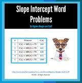 Slope Intercept - Solving Word Problems