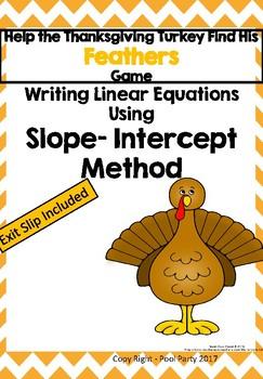 Slope Intercept Turkey Feather Game