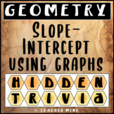 Slope-Intercept Using Graphs Hidden Trivia
