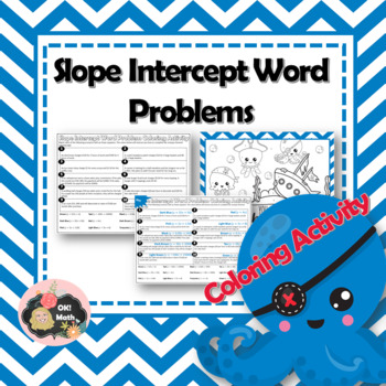 Slope Intercept Word Problems Coloring Activity
