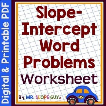 Slope intercept word problems matching worksheet by mr slope guy ibookread PDF