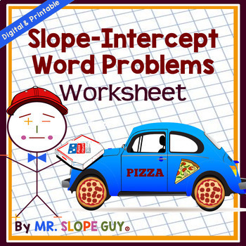 Slope Intercept Word Problems Matching Worksheet