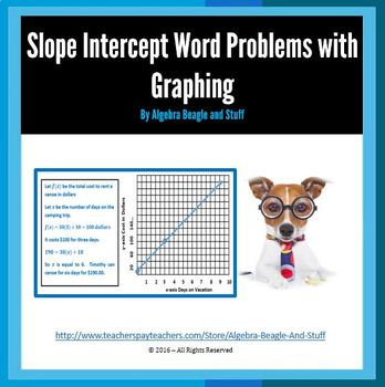 Slope Intercept Word Problems with Graphing