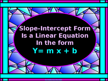 Algebra Power-Point:  Slope-Intercept form