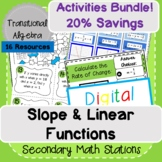 Slope & Linear Equations Activities Bundle!