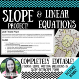 Slope and Linear Equations Project