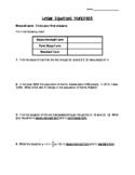 Slope & Linear Equations Worksheet