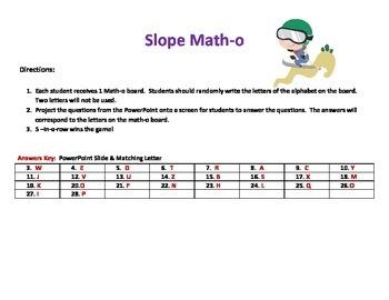 Slope Matho (Slope Bingo)
