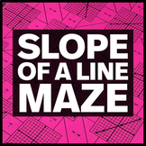 Slope of a Line - Middle School Math Maze + Bonus Mini Maze