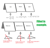 Slope Midpoint Length & Special Triangle Lines - FOLDABLE