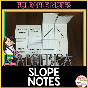 Identifying Slope Notes Foldable