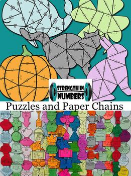 Basketball Slope Paper Chain Partner Work for Display