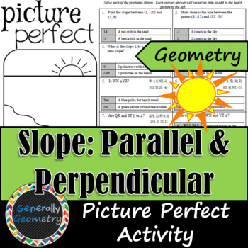 Slope: Parallel and Perpendicular- Picture Perfect Activity; Geometry