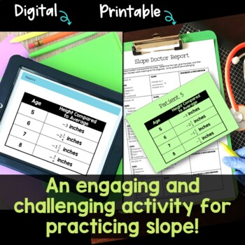 Slope Practice Activity with Real World Relations