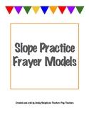 Slope Practice Frayer Models