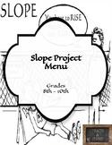 Slope Project Menu