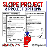 Slope Project: Three Options with Grading Sheets