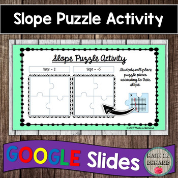Slope Puzzle Activity in Google Slides