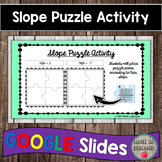 Slope Puzzle Activity in Google Slides Distance Learning