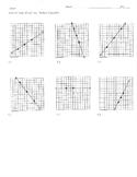 Slope QUIZ homework practice worksheet count calculate graph zero undefined