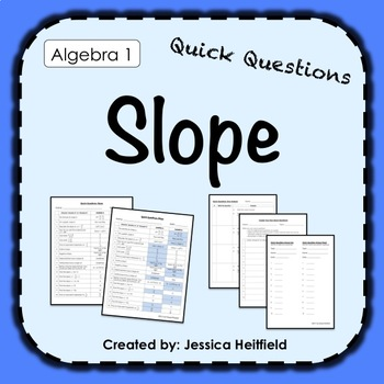Slope Activity: Fix Common Mistakes!