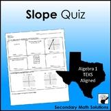 Slope Quiz (A3A)