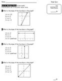 Editable Slope Quiz