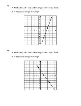 Slope Quiz/Workhsheet