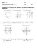 Slope Quiz (editable)