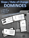 Slope / Rate of Change DOMINOES activity