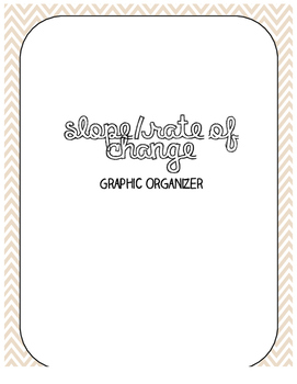 Slope/Rate of Change Graphic Organizer