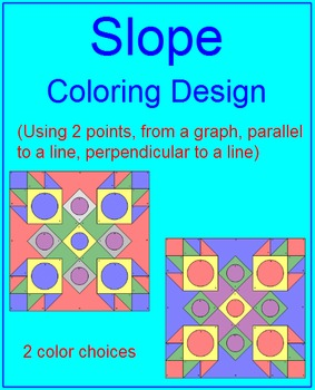 SLOPE: REVIEW EACH TYPE OF SLOPE - COLORING ACTIVTY