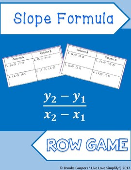 Slope Row Game