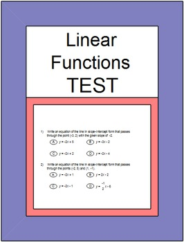 Slope - SMART Response (Slope and Linear Functions Common Core Test)