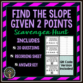 Slope Scavenger Hunt (Find the Slope Given 2pts)
