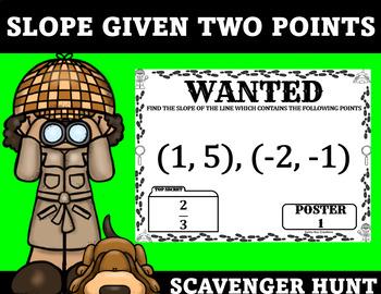 Slope Scavenger Hunt Given Two Points