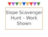 Slope Scavenger Hunt Work Shown