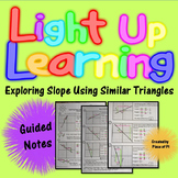 Slope Similar Triangles Guided Notes Color Coded 8.EE.6
