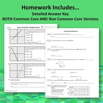 Slope Similar Triangles Guided Notes Homework BUNDLE