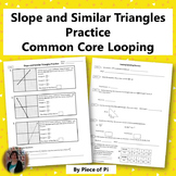 Slope Similar Triangles Practice Spiraling Review 8.EE.6