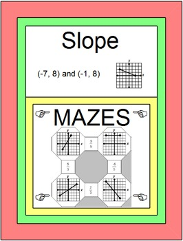 Slope - 2 MAZES with 10 Warm ups/Exit (FREE with Slope Partner Pair Activity)