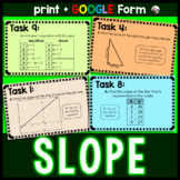Slope Task Cards w/ GOOGLE Form for distance learning