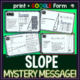 Slope MYSTERY MESSAGE! Tasks - print and digital