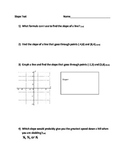 Slope Test with Answer Key