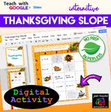 Thanksgiving Algebra Slope Digital Activity with Google Slides Distance Learning