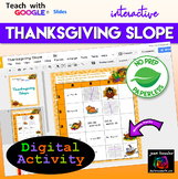 Slope Thanksgiving Algebra Activity with Google Slides™