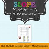 Slope Treasure Hunt Worksheet