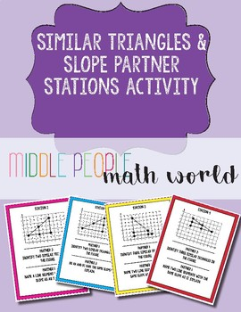 Slope Triangles Partner Stations Activity