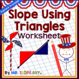 Slope Triangles Worksheet Activity