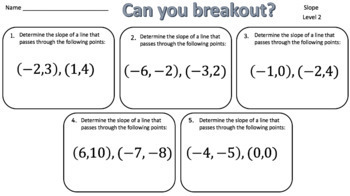 Slope – Two Breakout Activities!